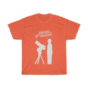 Fn Weather Astronomer t shirt orange
