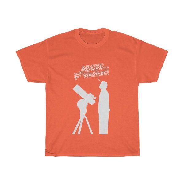 Fn Weather Astronomer t shirt orange